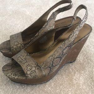 Anne Klein Shoes - NWOT Snakeskin Wedges